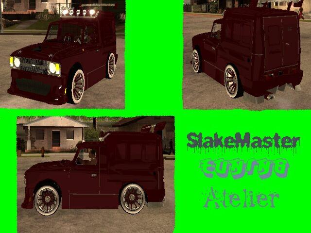 """24.03.2008. Модели для GTA SAN ANDREAS.  Модель сделана нашим моделером Slake Master """"oм.  Иж 2715 Novosib Tuning."""